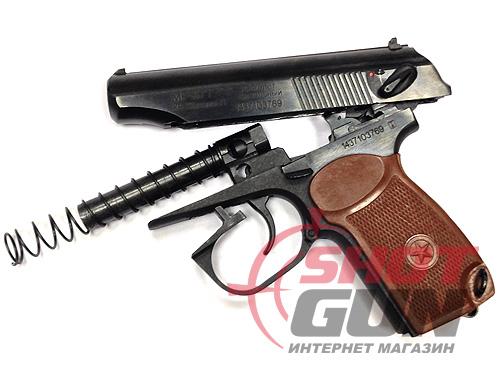Сигнальный пистолет Макарова МР 371 в разобранном виде